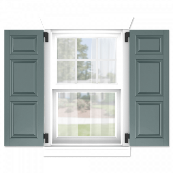 personalize your Adorned Openings 20/40/40 raised panel shutters by size, color, quantity and more