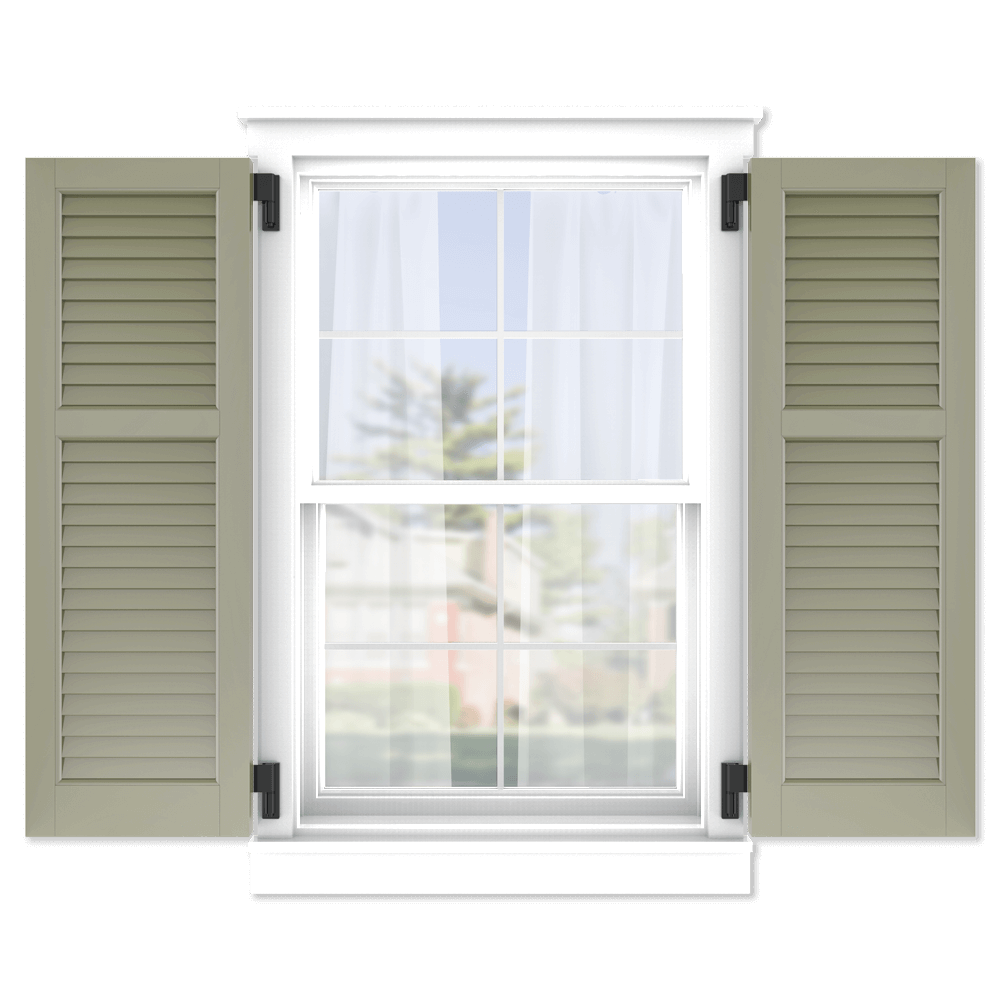 personalize your Adorned Openings 40/60 louver shutters by size, color, quantity and more