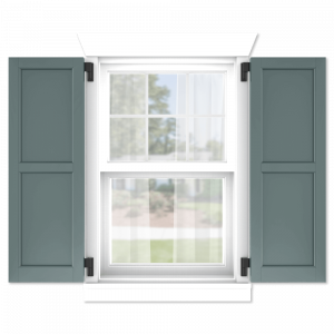 personalize your Adorned Openings 50/50 flat panel shutters by size, color, quantity and more