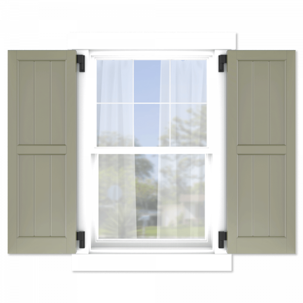 personalize your Adorned Openings 50/50 framed board and batten shutters by size, color, quantity and more