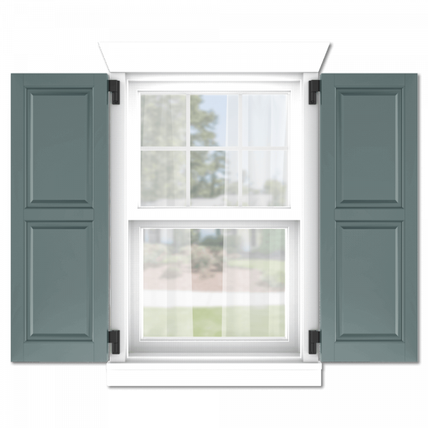 personalize your Adorned Openings 50/50 raised panel shutters by size, color, quantity and more.