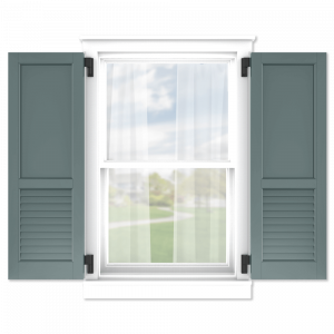 personalize your Adorned Openings 60/40 flat panel louver combination shutters by size, color, quantity and more