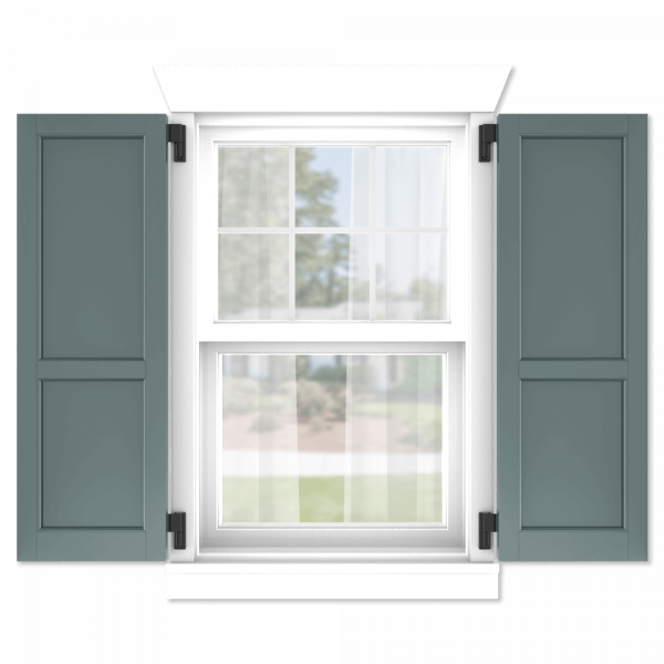 personalize your Adorned Openings 60/40 flat panel shutters by size, color, quantity and more