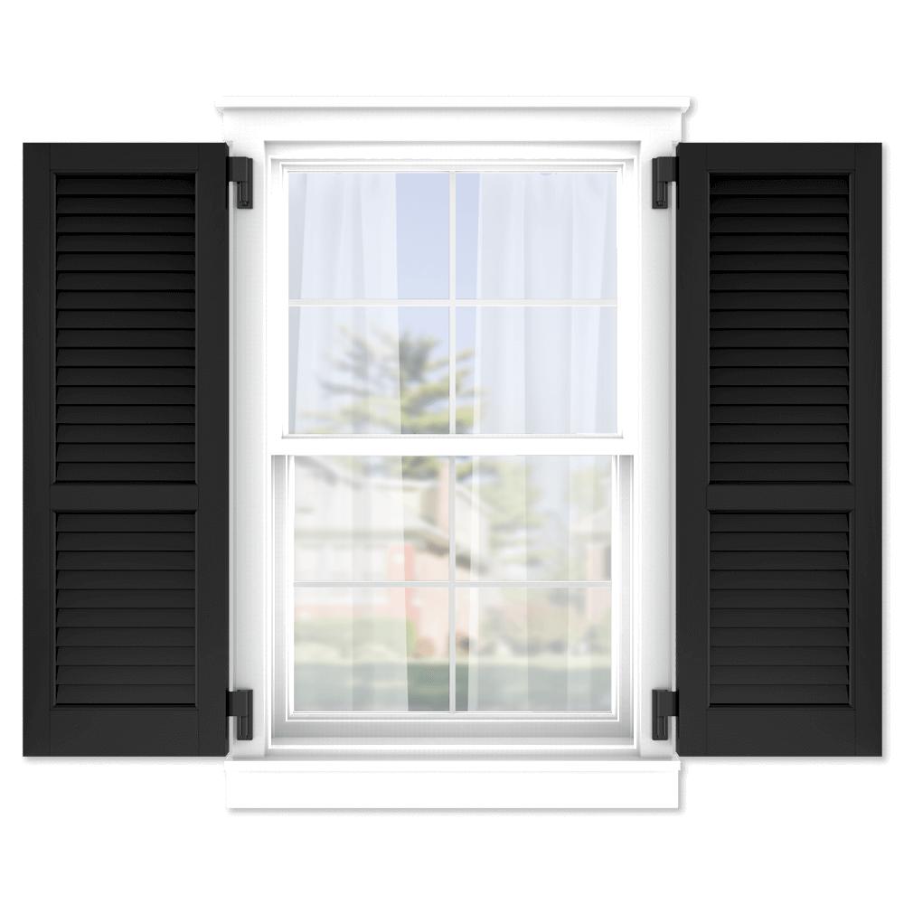 personalize your Adorned Openings 60/40 louver shutters by size, color, quantity and more