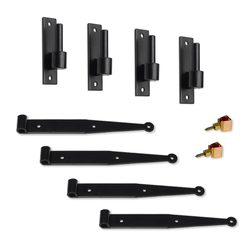 personalize your Adorned Openings shutters with narrow plate pintle functional shutter hardware