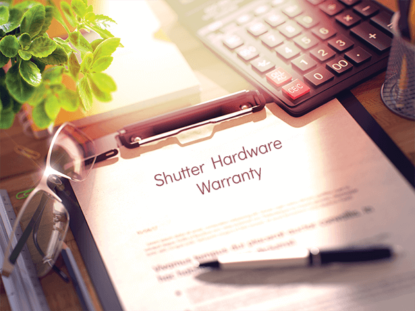 Adorned Openings' shutter hardware comes standard with warranties to ensure they look good for years to come