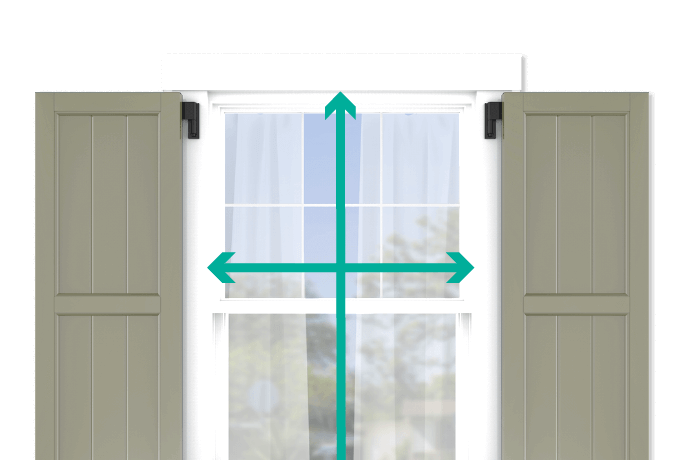 learn how to quickly measure your windows for framed board and batten shutters