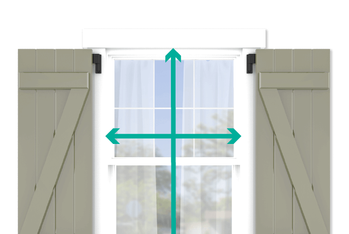 learn how to quickly measure your windows for board and batten z brace shutters