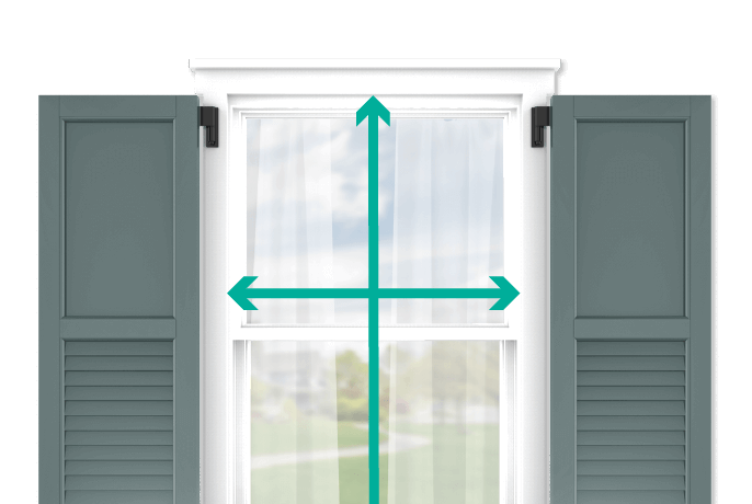 learn how to quickly measure your windows for flat panel and louver combination shutters
