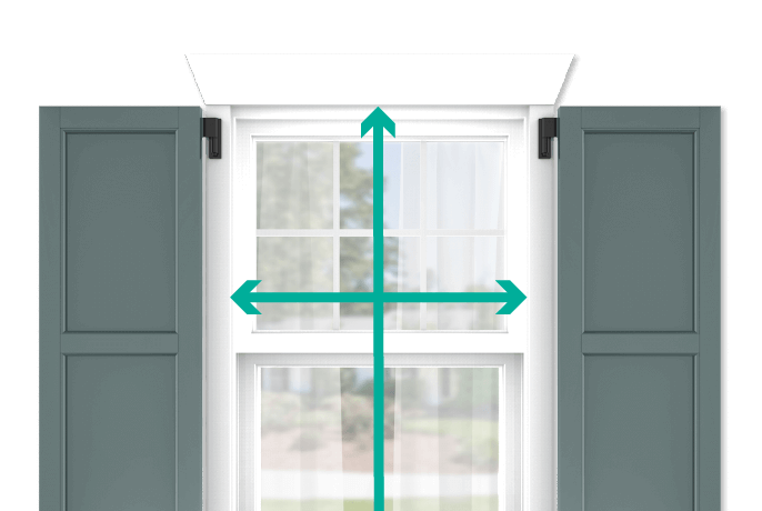 learn how to quickly measure your windows for flat panel shutters