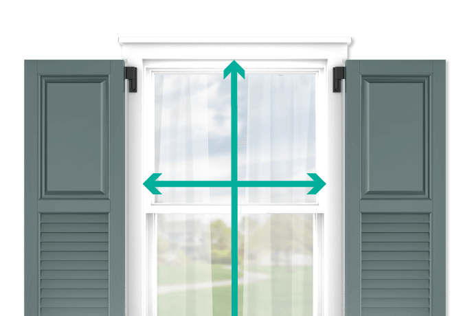 learn how to quickly measure your windows for raised panel and louver combination shutters