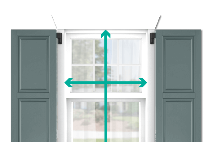 learn how to quickly measure your windows for raised panel shutters