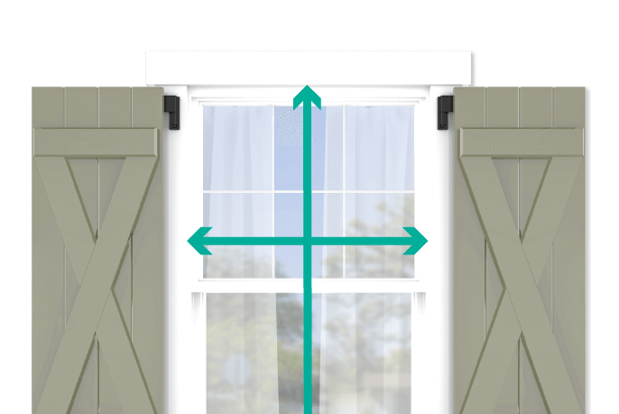 learn how to quickly measure your windows for board and batten x brace shutters