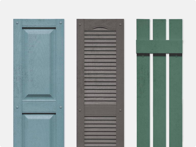 limited standard-sized vinyl shutters typically warp and fade quicker than other shutter materials