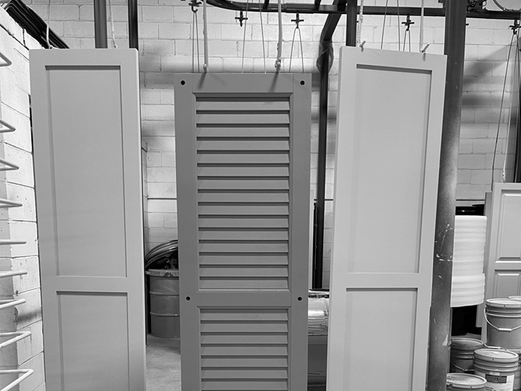 Once Adorned Openings shutters are painted, they then enter curling ovens for an even drying process