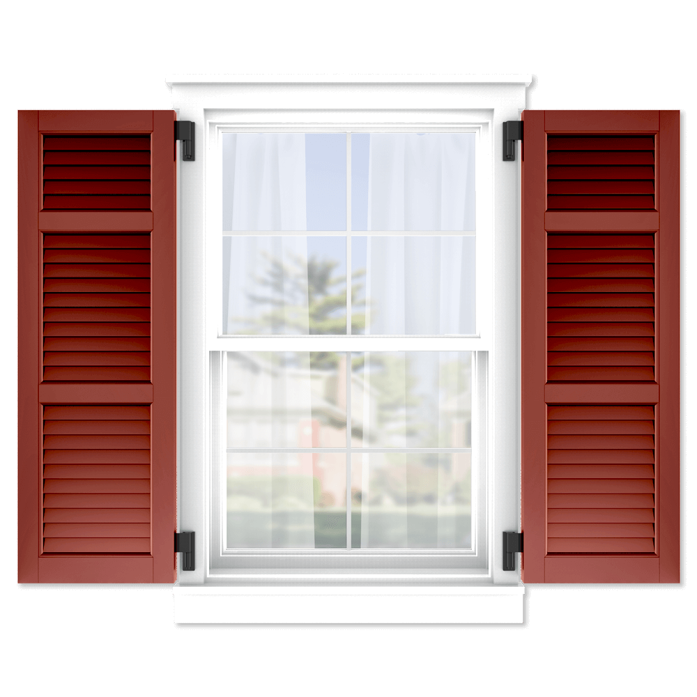 personalize your Adorned Openings 20/40/40 louver shutters by size, color, quantity and more