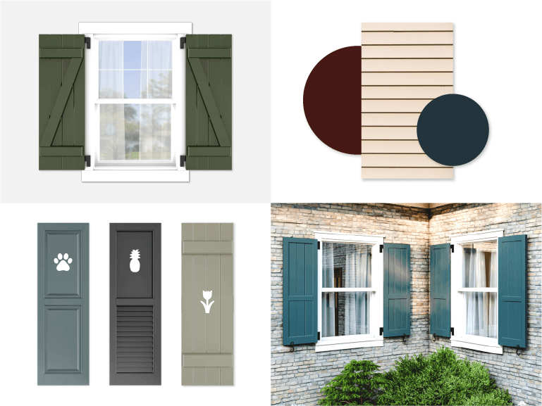 4 ways to personalize exterior shutters to make your home stand out for all the right reasons or to easily boost curb appeal!