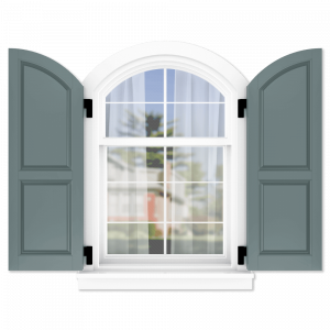 personalize your Adorned Openings arch top 60/40 raised panel shutters by size, color, quantity and more