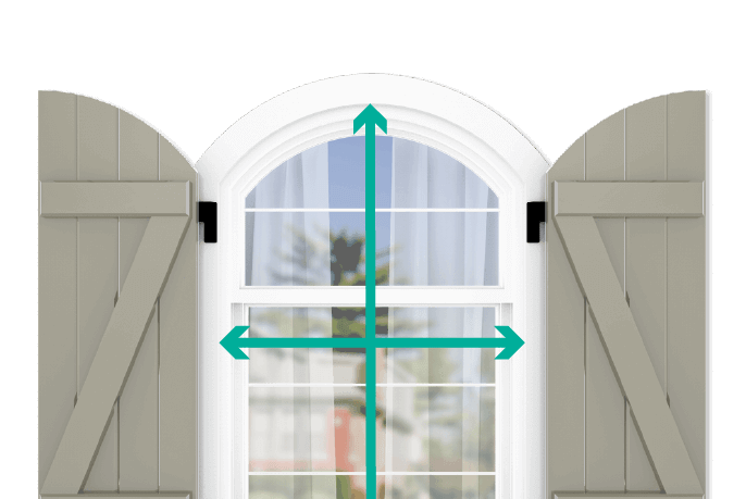 learn how to quickly measure your windows for arch top board and batten z brace shutters
