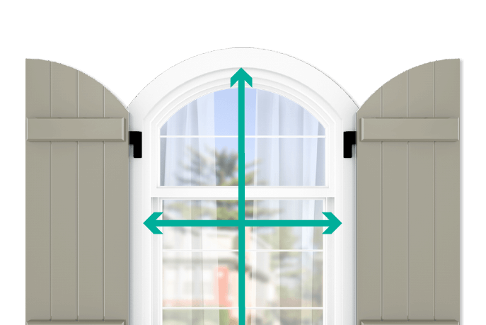 learn how to quickly measure your windows for arch top board and batten shutters