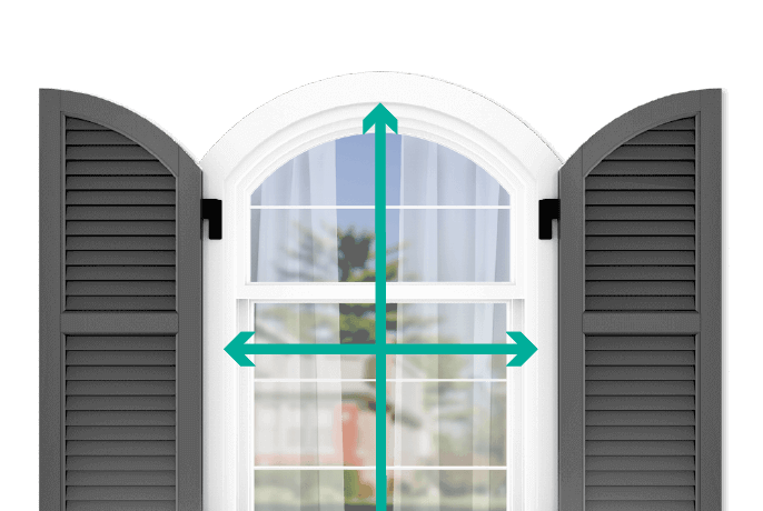 learn how to quickly measure your windows for arch top louver shutters