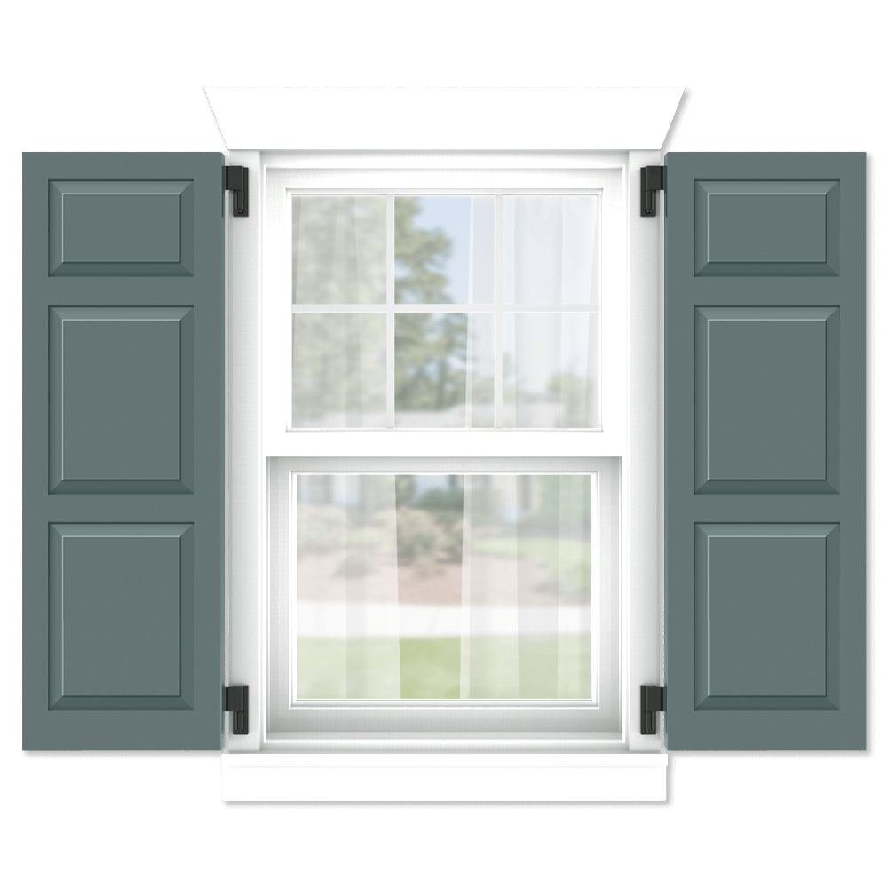 personalize your Adorned Openings 20/40/40 shaker panel shutters by size, color, quantity and more