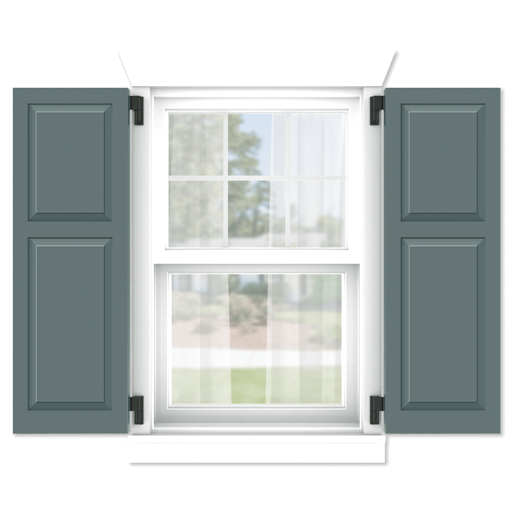 personalize your Adorned Openings 40/60 shaker panel shutters by size, color, quantity and more