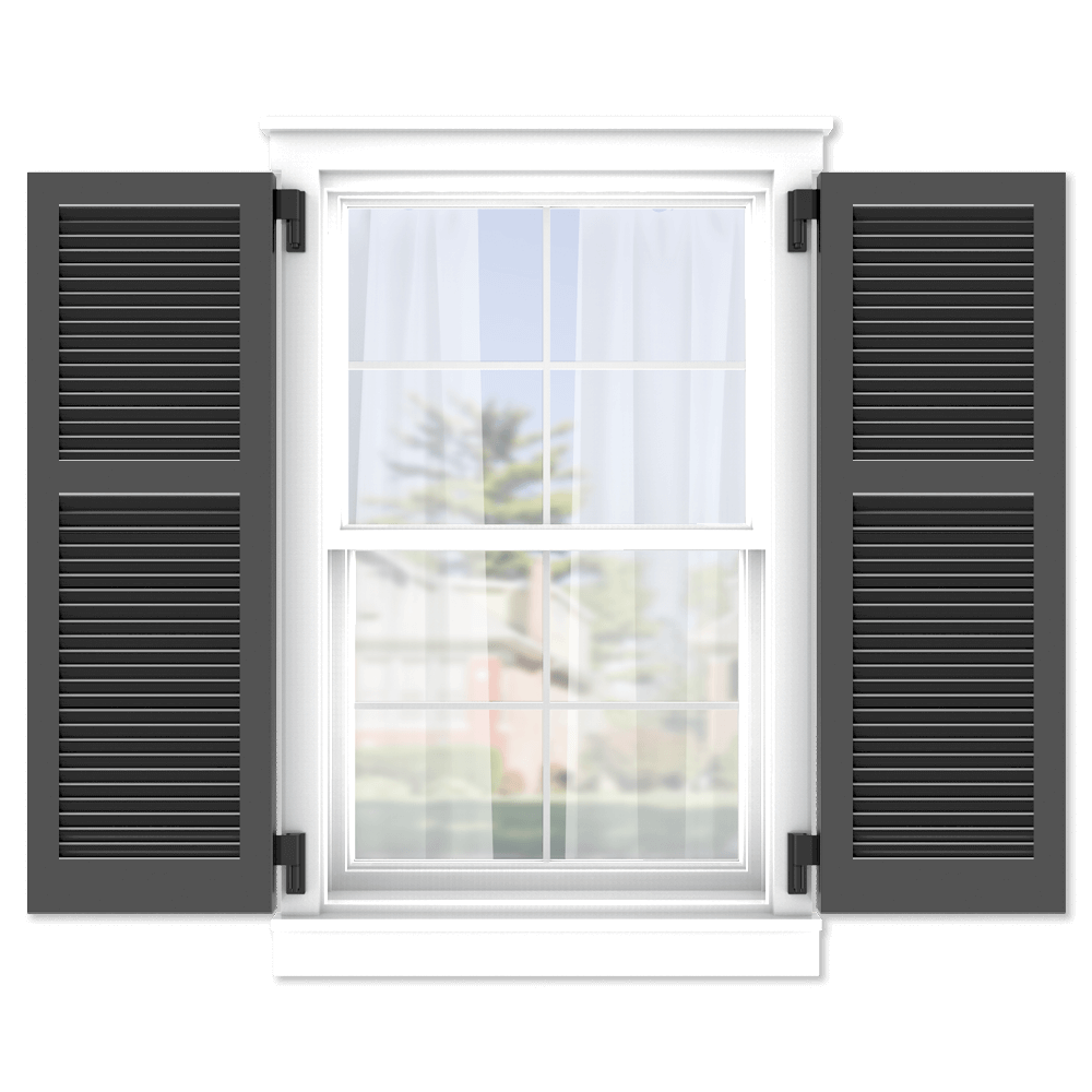 personalize your Adorned Openings 40/60 wide louver shutters by size, color, quantity and more.