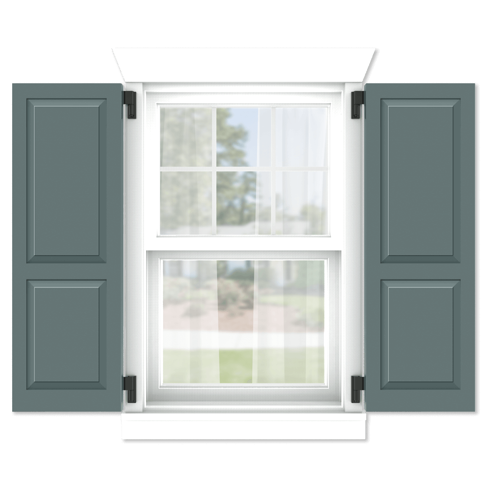 personalize your Adorned Openings 60/40 shaker panel shutters by size, color, quantity and more