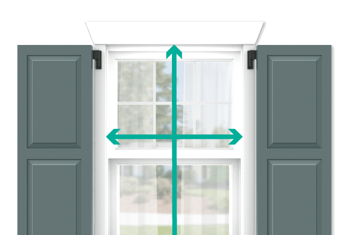 learn how to quickly measure your windows for shaker panel shutters