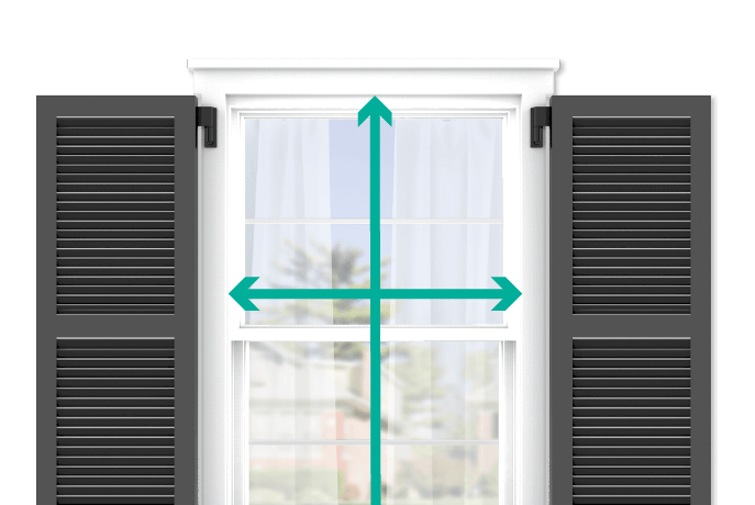 learn how to quickly measure your windows for louver shutters